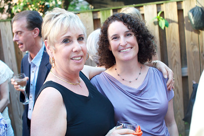 Bonnie Roberts-Burke, Shira Yoffe, Evers & Co. Spring Art Show in Dupont.  Photo by Ben Droz.