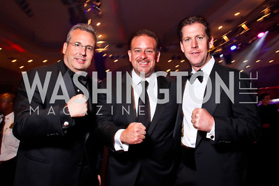 Chuck Kuhn, Raul Fernandez, Fred Schaufeld. Photo by Tony Powell. Fight Night. Hilton Hotel. November 1, 2012