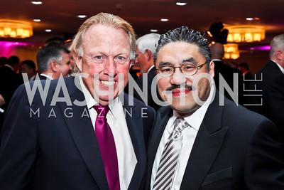 Dick Patterson, Bob Hisaoka. Photo by Tony Powell. Fight Night. Hilton Hotel. November 1, 2012