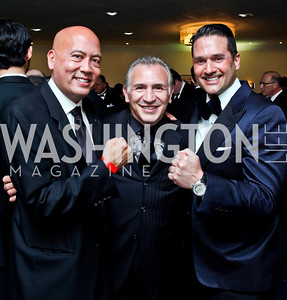 "Jimmy Lynn, Ray ""Boom Boom"" Mancini, Chris Tavlarides. Photo by Tony Powell. Fight Night. Hilton Hotel. November 1, 2012"