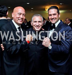 """Jimmy Lynn, Ray """"Boom Boom"""" Mancini, Chris Tavlarides. Photo by Tony Powell. Fight Night. Hilton Hotel. November 1, 2012"""