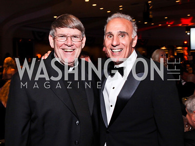 Monsignor John Enzler, Mitch Rales. Photo by Tony Powell. Fight Night. Hilton Hotel. November 1, 2012