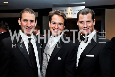 Steve Andronico, Brad Nierenberg, John Cecchi. Photo by Tony Powell. Fight Night. Hilton Hotel. November 1, 2012