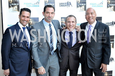 "Christopher Tavlarides, Mark Kriegel, Ray Mancini, Jimmy Lynn, Fight For Children's kickoff for Fight Night at the Italian Embassy.  Premier of the documentary ""The Good Son"", tells the story of Ray 'Boom Boom' Mancini.  Photo by Ben Droz"