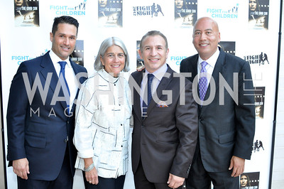 "Christopher Tavlarides, Michela English, Ray Mancini, Jimmy Lynn, Fight For Children's kickoff for Fight Night at the Italian Embassy.  Premier of the documentary ""The Good Son"", tells the story of Ray 'Boom Boom' Mancini.  Photo by Ben Droz"