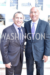 "Ray Mancini, Jimmy Lynn,  Fight For Children's kickoff for Fight Night at the Italian Embassy.  Premier of the documentary ""The Good Son"", tells the story of Ray 'Boom Boom' Mancini.  Photo by Ben Droz"