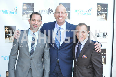 "Mark Kriegel, Mike Wise, Ray Mancini,  Fight For Children's kickoff for Fight Night at the Italian Embassy.  Premier of the documentary ""The Good Son"", tells the story of Ray 'Boom Boom' Mancini.  Photo by Ben Droz"