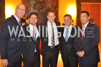 "Mike Wise, Zachary Leonsis, Raul Fernandez, Richard Kay, Fight For Children's kickoff for Fight Night at the Italian Embassy.  Premier of the documentary ""The Good Son"", tells the story of Ray 'Boom Boom' Mancini.  Photo by Ben Droz"
