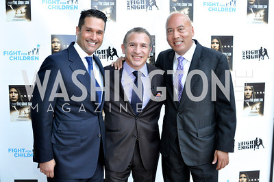 "Christopher Tavlarides, Ray Mancini, Jimmy Lynn Fight For Children's kickoff for Fight Night at the Italian Embassy.  Premier of the documentary ""The Good Son"", tells the story of Ray 'Boom Boom' Mancini.  Photo by Ben Droz"