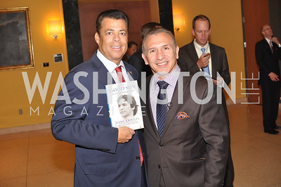 "Richard Kay, Ray Mancini, Fight For Children's kickoff for Fight Night at the Italian Embassy.  Premier of the documentary ""The Good Son"", tells the story of Ray 'Boom Boom' Mancini.  Photo by Ben Droz"