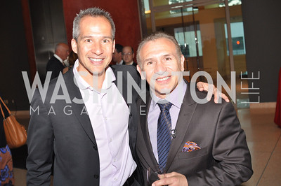 "Winston Lord, Ray Mancini,  Fight For Children's kickoff for Fight Night at the Italian Embassy.  Premier of the documentary ""The Good Son"", tells the story of Ray 'Boom Boom' Mancini.  Photo by Ben Droz"