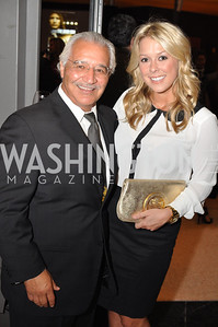 "Joseph Bruno, Lea Biciocchi,  Fight For Children's kickoff for Fight Night at the Italian Embassy.  Premier of the documentary ""The Good Son"", tells the story of Ray 'Boom Boom' Mancini.  Photo by Ben Droz"