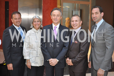 "Raul Fernandez, Michela English, Ambassador Claudio Bisogniero, Ray Mancini, Mark Kriegel Fight For Children's kickoff for Fight Night at the Italian Embassy.  Premier of the documentary ""The Good Son"", tells the story of Ray 'Boom Boom' Mancini.  Photo by Ben Droz"