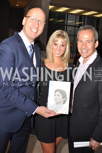 "Mike Wise, Sara Ginolfi, Winston Lord,  Fight For Children's kickoff for Fight Night at the Italian Embassy.  Premier of the documentary ""The Good Son"", tells the story of Ray 'Boom Boom' Mancini.  Photo by Ben Droz"
