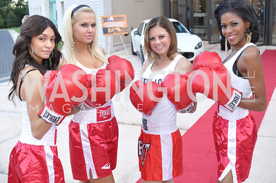 "Tammy Sierra, Brittany Althey, Carissa Cyran, Rachel Baines,  Fight For Children's kickoff for Fight Night at the Italian Embassy.  Premier of the documentary ""The Good Son"", tells the story of Ray 'Boom Boom' Mancini.  Photo by Ben Droz"