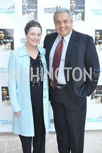 "Michael Stratos and Cheryl Stratos. Fight For Children's kickoff for Fight Night at the Italian Embassy.  Premier of the documentary ""The Good Son"", tells the story of Ray 'Boom Boom' Mancini.  Photo by Ben Droz"