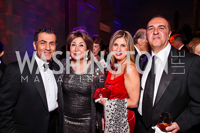 Vali Nasr, Maha Kadoura, Fariba and Reza Jahanbani. Photo by Tony Powell. Freer|Sackler 25th Anniversary Gala. November 29, 2012