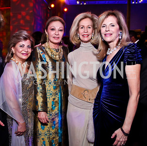 Annie Totah, Empress Farah Pahlavi, Bonnie McElveen-Hunter, Jane Cafritz. Photo by Tony Powell. Freer|Sackler 25th Anniversary Gala. November 29, 2012