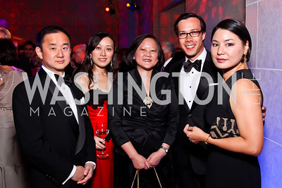 David Yao, Chrissie Chen, Penny Yao, Chris Reynolds, Carol Huh. Photo by Tony Powell. Freer|Sackler 25th Anniversary Gala. November 29, 2012