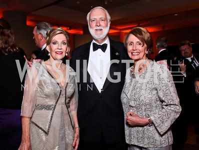 Dame Jillian Sackler, Wayne Clough, Nancy Pelosi. Photo by Tony Powell. Freer|Sackler 25th Anniversary Gala. November 29, 2012