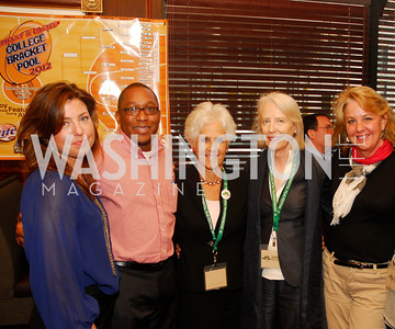 Carolyn Markey,Clarence Davis,Diane Straus,Flo Stone,,Mary Beth Stapnek,March 24,2012,GM  pre-reception at Elephant And   Castle for Watershed,Kyle Samperton