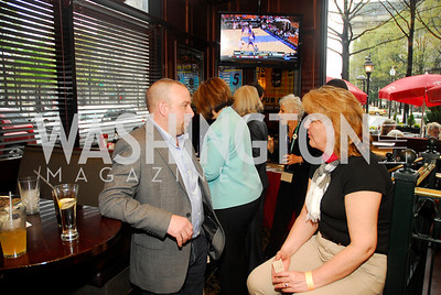 Gary Hefner,,Marybeth Stanek,March 24,2012,GM  pre-reception at Elephant And   Castle for Watershed,Kyle Samperton