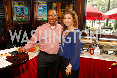 Clarence Davis,Carolyn Markey,March 24,2012,GM  pre-reception at Elephant And   Castle for Watershed,Kyle Samperton