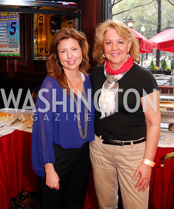 Carolyn Markey,,Mary Beth Staneck,March 24,2012,GM  pre-reception at Elephant And   Castle for Watershed,Kyle Samperton