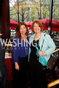 Carolyn Markey,Phyliis Kolmus,March 24,2012,GM  pre-reception at Elephant And   Castle for Watershed,Kyle Samperton