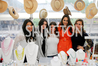 Tala Odeh,Jaclyn Mason,Shelley Adler,Francesca Monti,Anne Bales.April 18,2O12,Georgetown Sip and Sale,Kyle Samperton