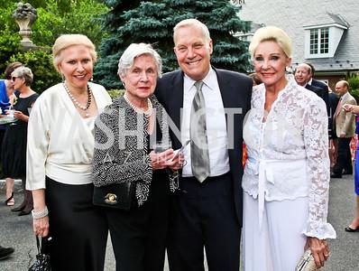 Olga Ryan, Nancy Ferris, Robert Heggestad, Rose Marie Bogley. Prêt-à-Papier Opening Gala. Photo by Tony Powell. June 14, 2012