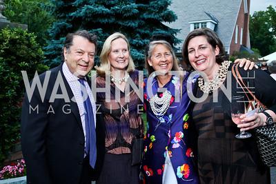 Carter and Lisa Cafritz, Deb Johns, Brenda Bertholf. Prêt-à-Papier Opening Gala. Photo by Tony Powell. June 14, 2012