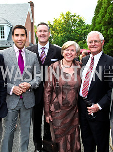Will Thomas, Barry Dixon, Leah and Jack Gansler. Prêt-à-Papier Opening Gala. Photo by Tony Powell. June 14, 2012