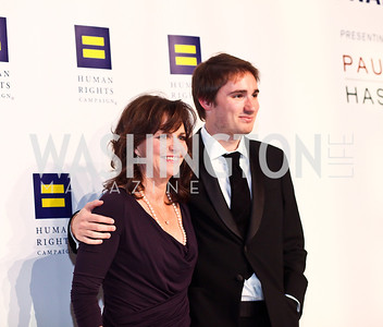 Sally Field and son Sam Greisman. Photo by Tony Powell. HRC 16th Annual National Dinner. Convention Center. October 6, 2012