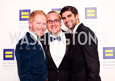 Jesse Tyler Ferguson, HRC President Chad Griffin, Justin Mikita. Photo by Tony Powell. HRC 16th Annual National Dinner. Convention Center. October 6, 2012