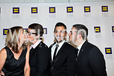 Prop 8 plaintiffs Sandy Stier, Kristen Perry, Paul Katami, Jeffrey Zarrillo. Photo by Tony Powell. HRC 16th Annual National Dinner. Convention Center. October 6, 2012