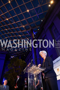 Christine Lagarde. IMF Talks with Christine Lagarde. Photo by Tony Powell. Kogod Courtyard. April 18, 2012