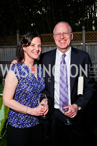 "Carolyn Lerner, Cliff Sloan. Ira Shapiro's ""The Last Great Senate"" book party. Photo by Tony Powell. April 16, 2012"
