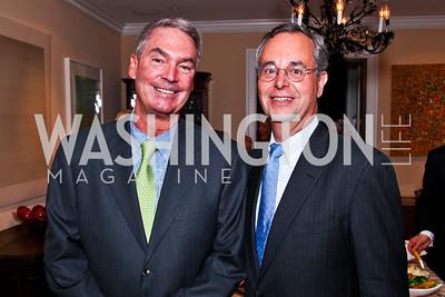 "Pat Quinn, David Leiter. Ira Shapiro's ""The Last Great Senate"" book party. Photo by Tony Powell. April 16, 2012"