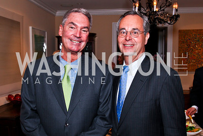 "Pat Quinn, David Leiter. Ira Shapiro's ""The Last Great Senate"" book party. Photo by Tony Powell. April 16, 2012"