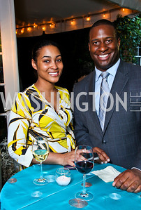 "Natasha Bonhomme, Marcus Fleming. Ira Shapiro's ""The Last Great Senate"" book party. Photo by Tony Powell. April 16, 2012"