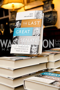 "Ira Shapiro's ""The Last Great Senate"" book party. Photo by Tony Powell. April 16, 2012"