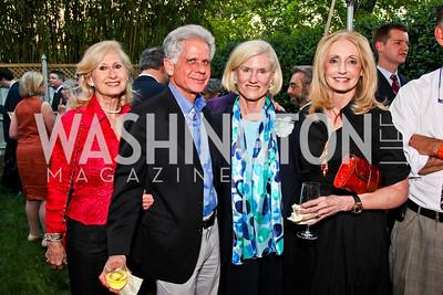 "Willee Lewis, Donald Friedman, Caroline Croft, Rhona Friedman. Ira Shapiro's ""The Last Great Senate"" book party. Photo by Tony Powell. April 16, 2012"