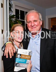 "Carolyn Atwell-Davis, Mike McCurry. Ira Shapiro's ""The Last Great Senate"" book party. Photo by Tony Powell. April 16, 2012"