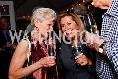 "Edie Fraser, Bobbi Greene McCarthy. Ira Shapiro's ""The Last Great Senate"" book party. Photo by Tony Powell. April 16, 2012"
