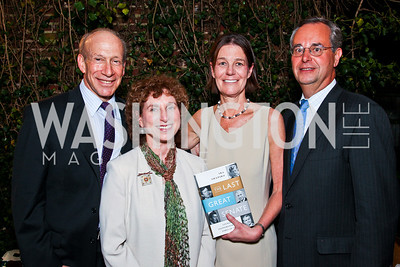 "Ira and Nancy Shapiro, Tamera Luzzatto and David Leiter. Ira Shapiro's ""The Last Great Senate"" book party. Photo by Tony Powell. April 16, 2012"