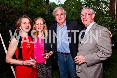 """Katie Sloan, Amy Nathan, Howard Fineman, Rick Sloan. Ira Shapiro's """"The Last Great Senate"""" book party. Photo by Tony Powell. April 16, 2012"""