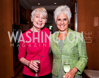 "Eleanor Clift, Diane Straus-Tucker. Ira Shapiro's ""The Last Great Senate"" book party. Photo by Tony Powell. April 16, 2012"