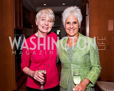 "Eleanor Clift, Diane Straus-Tucker. Ira Shapiro's ""The Last Great Senate"" book party. Photo by Tony Powell. April 16, 2012"