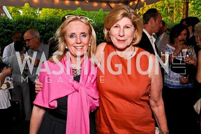 """Debbie Dingell, Nina Totenberg. Ira Shapiro's """"The Last Great Senate"""" book party. Photo by Tony Powell. April 16, 2012"""